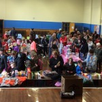 A busy start to the school fayre.