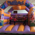 The bouncy castle was an early favourite.