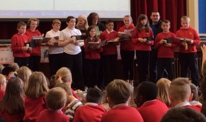 At today's assembly the winners of Westpark Schools Masterchef competition was announced.