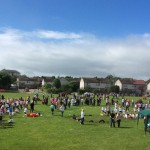 Finally a fine, sunny, dry day for Westpark School Sports.
