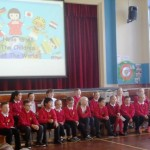 The assembly was started  with the children singing Hello to all the Children of the World.